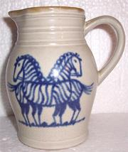Prestige Place Zebra Ceramic Handmade Jug Museum of American folk Art Japan - $84.39