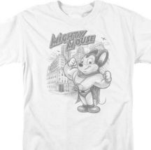Mighty Mouse T-shirt retro superhero classic cartoon cotton white tee CBS886 image 3