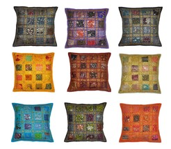 "16"" Vintage Decor Cotton Cushion Pillow Cover E... - $147.51"