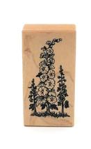 PSX  Hollyhock Flowers Floral Botanical Wood Rubber Stamp F-581 1993 Ret... - $24.75