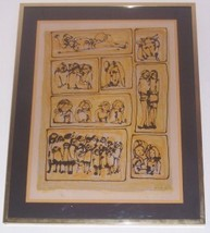 RARE 1969 SIGNED YANNI POSNAKOFF GREECE ART LITHO PRINT - $483.53
