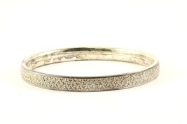 Vintage Textured Design Bangle Bracelet 925 Sterling BR 2851 - $44.99