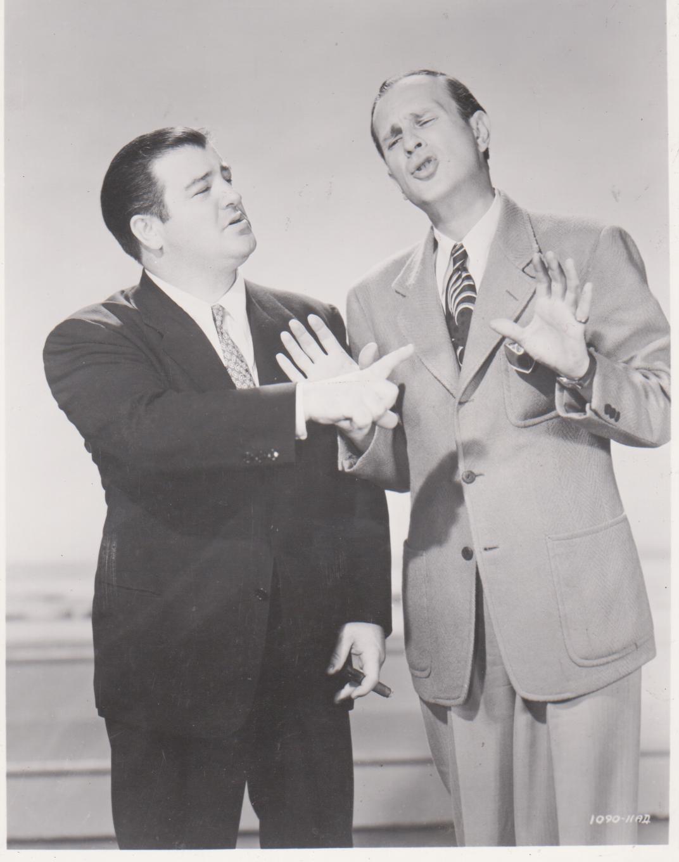Abbott And Costello Stage EP Vintage 8X10 BW Comedy TV Memorabilia Photo