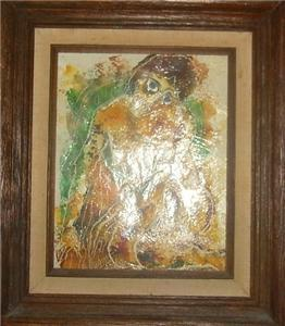 RARE CALVIN WALLER BURNETT SIGNED NUDE OIL PAINTING