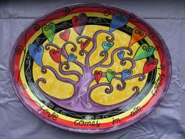 """Love Comes in All Colors by Outi Large Oval Serving Platter 18.5"""" x 15"""" ... - $79.95"""