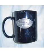 BLACKHAWK Helicopter Mug Black with Metal Medallion Plate - $9.99