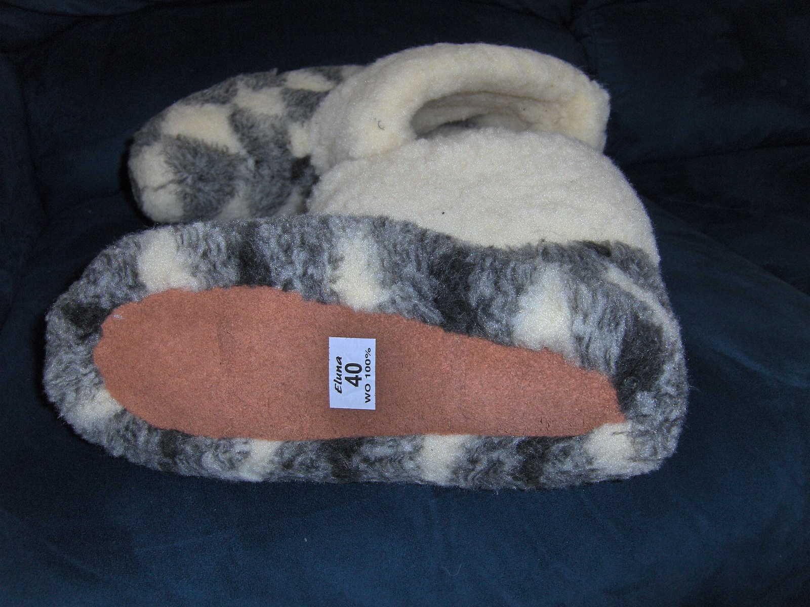 Eluna 100% Sheepskin Slippers Size 40 Unisex Handmade