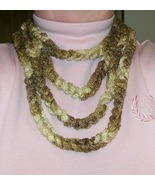 Gold Sashay Crochet Rope Necklace, Handmade - $17.00