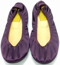 LANVIN HIVER 2007 Women's Satin Ballet Flat Purple Size 37 Plum Leather ... - $79.20