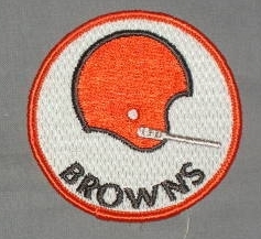 Vintage 70's Cleveland Browns Embroidered Patch