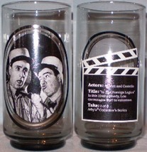 Arby's Glass 2 of 6 Abbott & Costello - $8.00