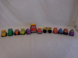 Tonka and Playskool large lot of trucks big and small with Eyes - $17.01