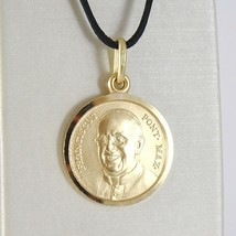 SOLID 18K YELLOW GOLD POPE FRANCIS FRANCESCO FRANCISCO 13 MM MEDAL MADE IN ITALY image 1