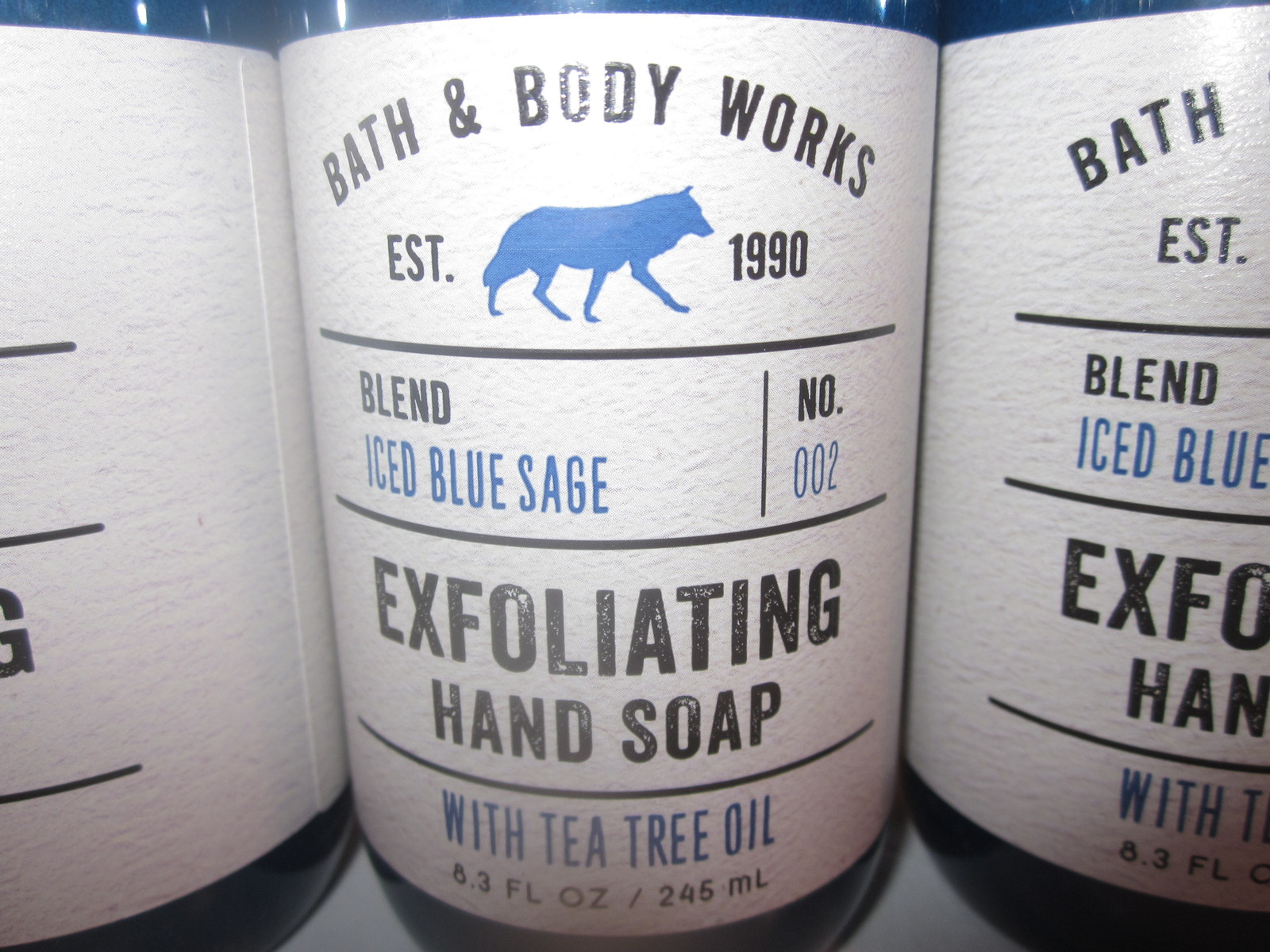 3 bottles Bath & Body Works Exfoliating Hand Soap Iced Blue Sage image 2