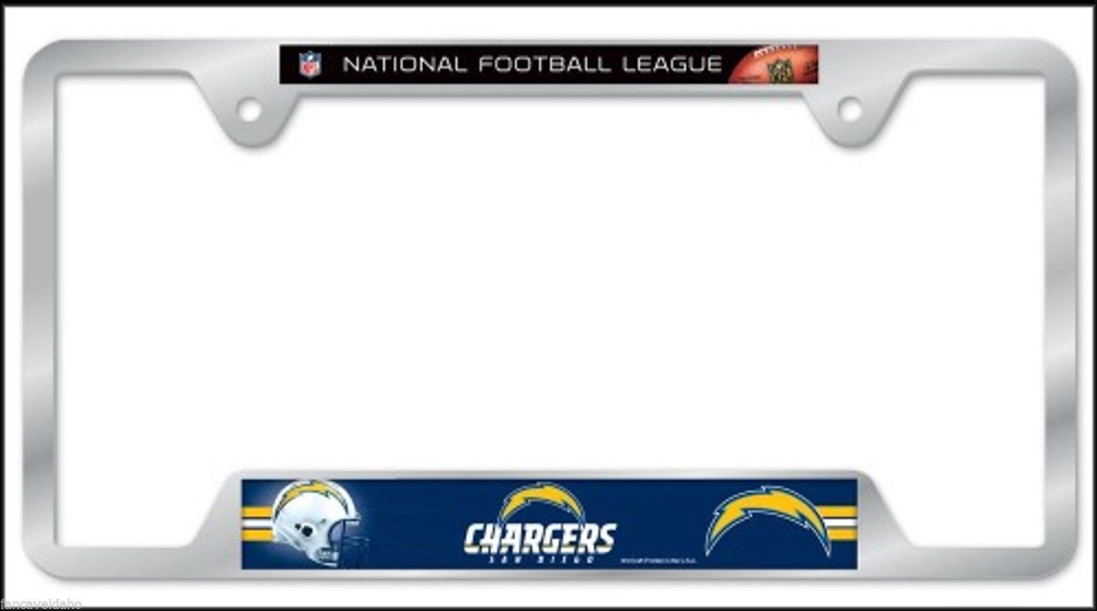 Nfl San Diego Chargers Heavy Duty Chrome Metal License