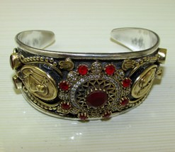 Sale, Very Beautiful, Vintage Style Bracelet, 925 Silver, Gemstones, Bangle - $64.00