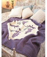 W834 Crochet PATTERN ONLY Dragonfly Afghan Throw Pattern - $8.45