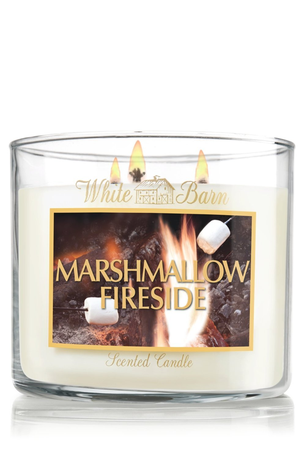 bath body works slatkin co marshmallow fireside scented candle 14 5 oz 411 candles. Black Bedroom Furniture Sets. Home Design Ideas