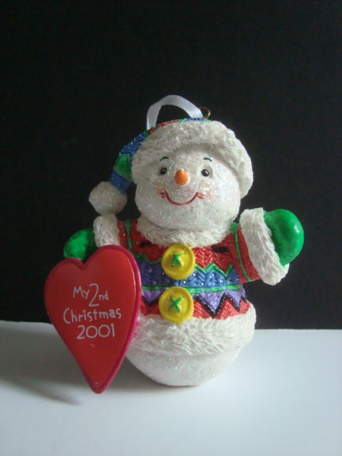 Carlton Cards Baby's Second Christmas 2001 Ornament - Other