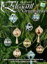 X547 Crochet PATTERN Book ONLY Elegant Ornaments Covers Christmas Rare - $19.50