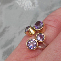 Sale, Very Beautiful Kunzite Ring, 925 Silver, Adjustable from 7 to 8.5 - $26.00