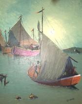 RARE JEAN JN. PIERRE HAITI HAITIAN ART SHIP PAINTING - $2,553.99