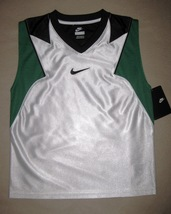 BOYS 7 - Nike - Flight White-Green-Black BASKETBALL SPORTS JERSEY - $16.20