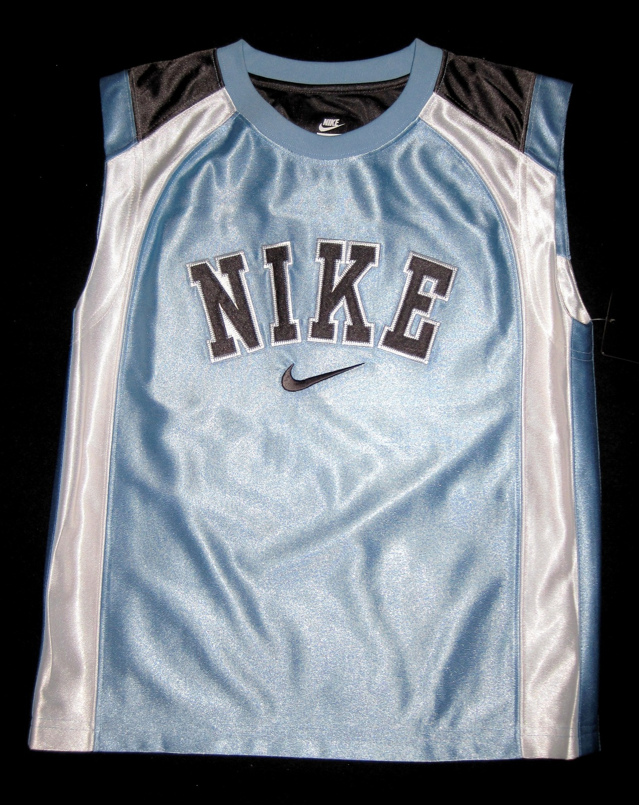 BOYS 7 - Nike - Light Blue-Gray-White BASKETBALL SPORTS JERSEY