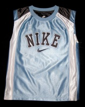 BOYS 7 - Nike - Light Blue-Gray-White BASKETBALL SPORTS JERSEY image 1