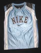 BOYS 7 - Nike - Light Blue-Gray-White BASKETBALL SPORTS JERSEY image 2