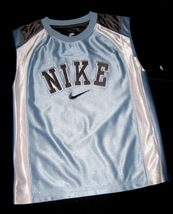 BOYS 7 - Nike - Light Blue-Gray-White BASKETBALL SPORTS JERSEY image 3