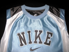 BOYS 7 - Nike - Light Blue-Gray-White BASKETBALL SPORTS JERSEY image 4