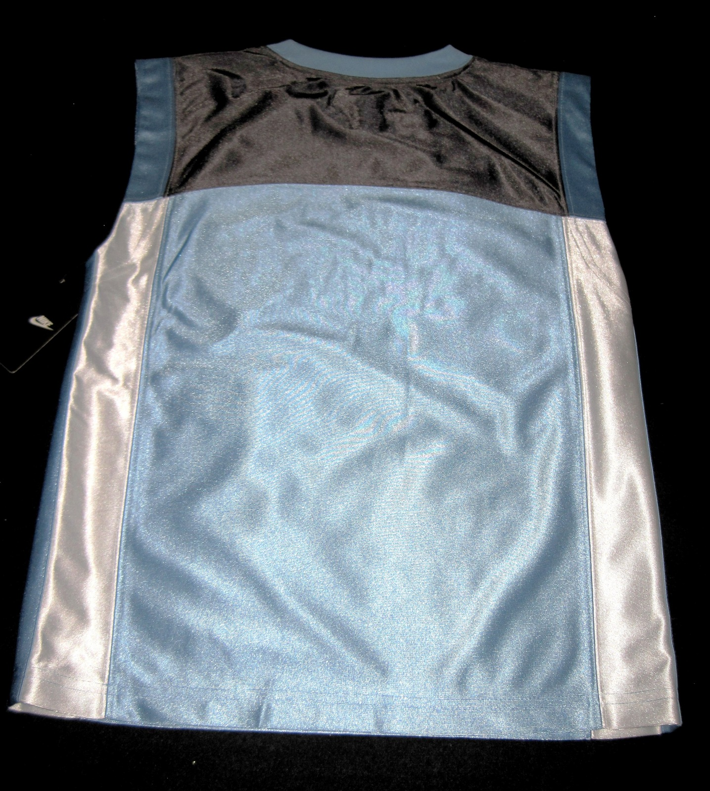 BOYS 7 - Nike - Light Blue-Gray-White BASKETBALL SPORTS JERSEY image 8