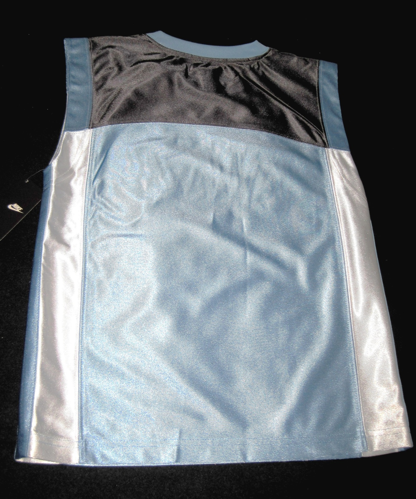 BOYS 7 - Nike - Light Blue-Gray-White BASKETBALL SPORTS JERSEY image 9
