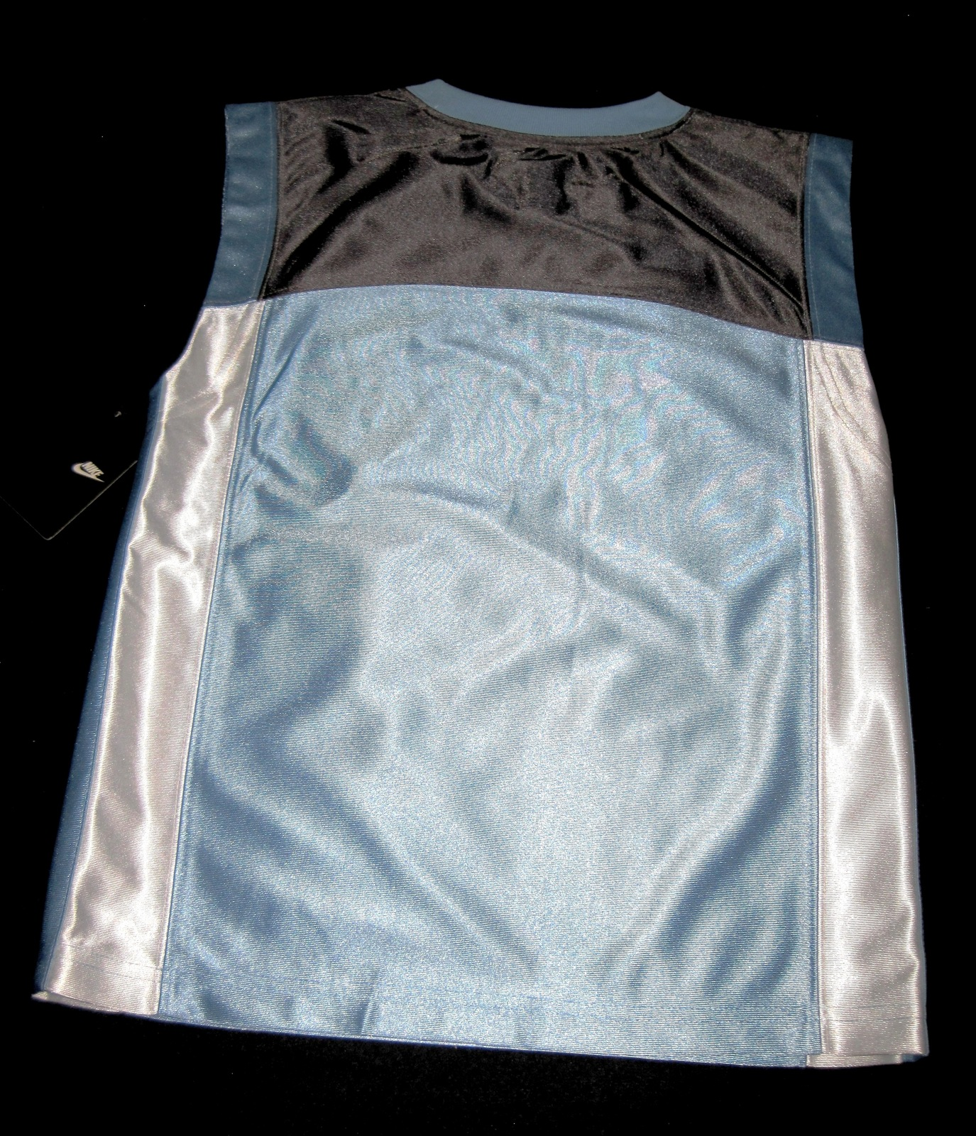 BOYS 7 - Nike - Light Blue-Gray-White BASKETBALL SPORTS JERSEY image 10