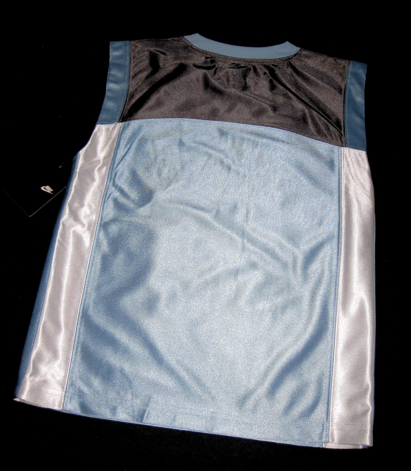 BOYS 7 - Nike - Light Blue-Gray-White BASKETBALL SPORTS JERSEY image 11
