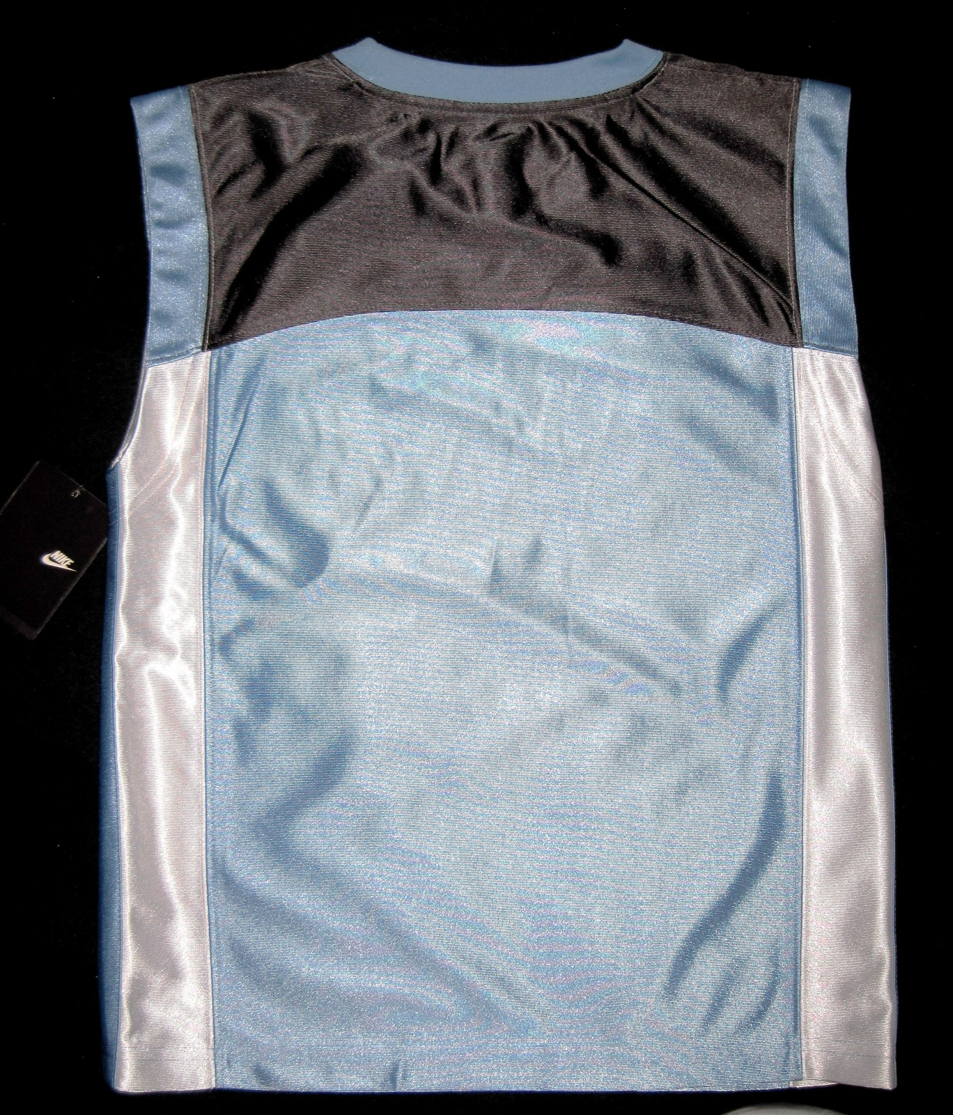 BOYS 7 - Nike - Light Blue-Gray-White BASKETBALL SPORTS JERSEY image 12