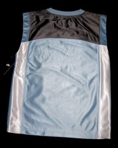 BOYS 7 - Nike - Light Blue-Gray-White BASKETBALL SPORTS JERSEY image 13