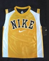 BOYS 6 - Nike - Gold-White-Black BASKETBALL SPORTS JERSEY - $24.29