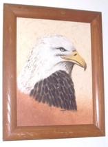 RARE LYDIA COOPER AMERICAN BALD EAGLE MIXED MEDIA ART - $171.53