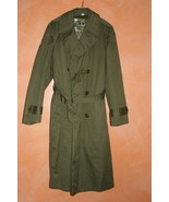 U S Army Olive Trench Coat Jacket Uniform 4th Infantry Division WW II Vi... - $129.00