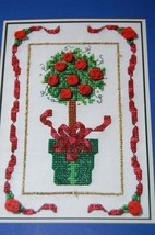 The Spirit Of Christmas Topiary Tree Counted Cross Stitch Ribbon Kit - $9.79