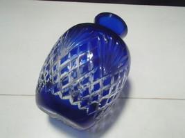 AJKA-NACHTMANN~BOHEMIAN~~COBALT BLUE CUT TO CLEAR VASE~~NICE - $14.95