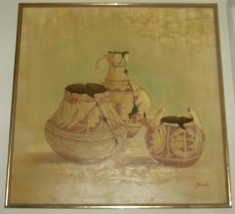 RARE NATIVE INDIAN POTTERY ART PAINTING BY HOUS SR. LR. - $484.14