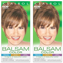 Pack of (2) New Clairol Balsam Permanent Hair Color, 608 Light Brown - $17.99
