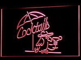 LED neon light sign  Cocktails  Happy Hour Bar Pub Man cave  - $32.99