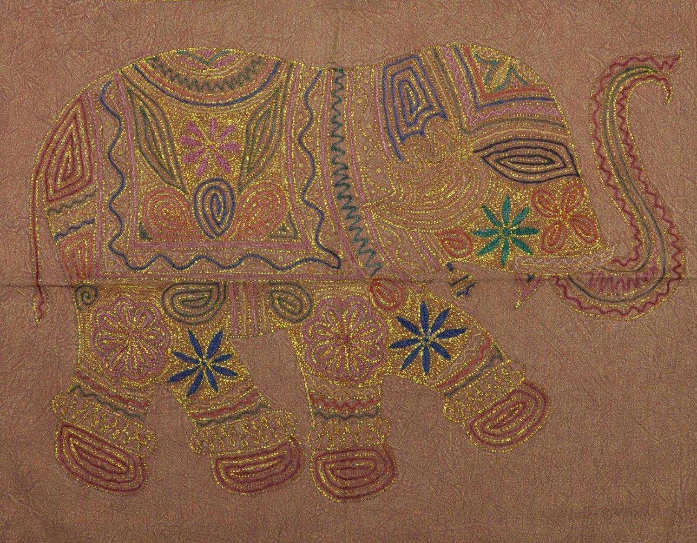 Indian wall hanging zari embroidery cotton handmade