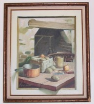 Rare Original Kitchen Still Life Oil Painting By Newton - $579.05