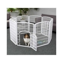 Dog Playpen Pets Gate Fence Indoor Outdoor  Kennel House Portable Houseb... - $138.72