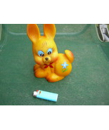 Vintage  USSR Soviet Russian Rubber Toy Hare Rabbit About 1978 - $9.89